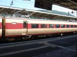 8/14 13:43 白馬駅に止まっていた381系「しなの」